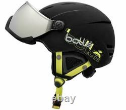 Bollé Ski- und Snowboardhelm mit Visor Gr. 54 58cm, schwarz Skihelm Helm