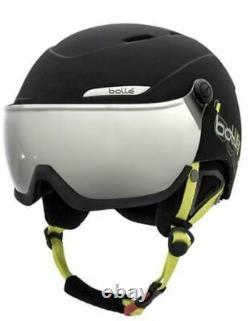 Bollé Ski- und Snowboardhelm mit Visor Gr. 58 61cm, schwarz Skihelm Helm