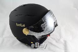 Bollé Skihelm Backline Visor Soft With 1 Gun Lemon, Black/Gold, 56-58 cm NEU