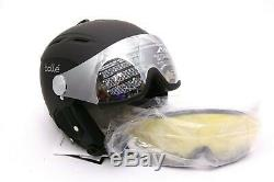 Bollé Skihelm Backline Visor Soft With 1 Gun und Lemon, Black, 59-61 cm NEU