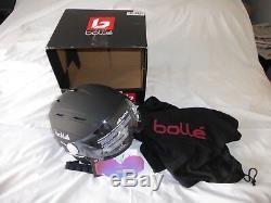 Bolle Snow Helmet Backline Visor Premium Soft Black & White With Modulator New