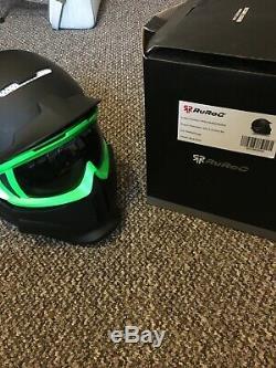 Brand New RuRoc RG1-X Shadow Helmet, M/L with goggles