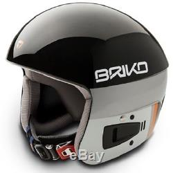 Briko Vulcano FIS Ski Race Helmet Black, X-Large (60cm)