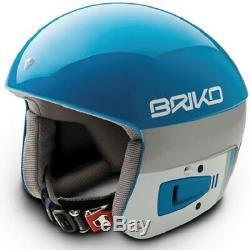 Briko Vulcano FIS Ski Race Helmet Light Blue Pink Explosion, Large (58cm)