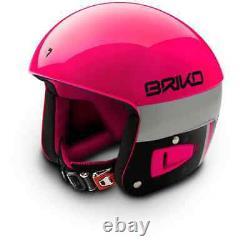 Briko Vulcano FIS Ski Race Helmet Pink Explosion Black, XX Small (52cm)