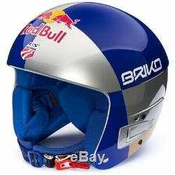 Briko Vulcano Junior Adjustable FIS Race Helmet Red Bull LV, S/M (53-56cm)