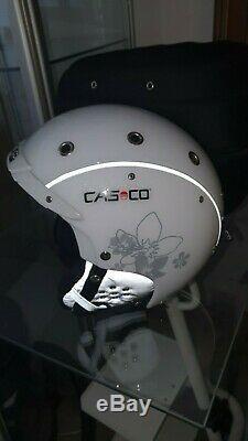 CASCO AIRWOLF SP-3 comp. Weiß-schwarz Skihelm Größe 54-58 cm/ M 356 SP3 mit BOX