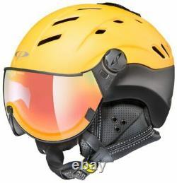 CP Camurai Snowboard Helm Skihelm DL Vario Lens Gold/Blk Multicolor Gelb 56-58