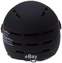 Cébé Men's Fireball Helmet Ski Helmets, Black (Noir), 53-58 cm