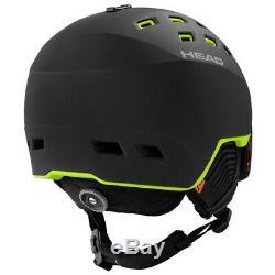 HEAD RADAR black/lime Visier Skihelm Snowboard Helm NEU Herren Snowboardhelm J19