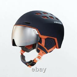 HEAD Rachel Blue/Salmon M-L Ski Snowboard Visor Helmet HS20