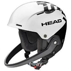 HEAD Team SL + Chinguard White M-L Ski Snowboard Helmet HS20
