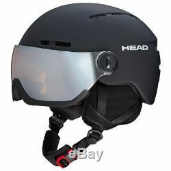 Head Knight Ski Helmet Integrated Visor. Black. SizeM-L. NWT