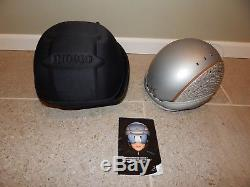 Indigo Ski Snowboard Skate Helmet Silver Carbon Snakeskin Pattern Size S/M