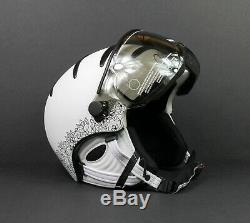 Kask Elite Lady Pizzo White Women's Ski Helmet Swarovski Crystals Size 58