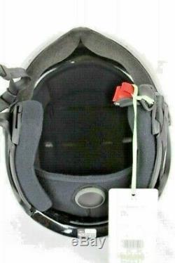 Kask Helmet Style Snowboard Ski Piuma Goggles Black Silver Small 55-56 cm NEW