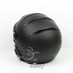 Kask Women's Lifestyle Lady Libellula Black Ski Helmet Swarovski Crystals Sz 58