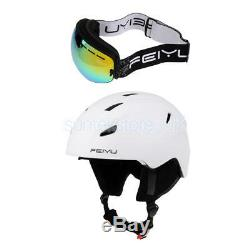 Lightweight Ski Snowboard Helmet + UV Protection Anti-fog Ski Goggles