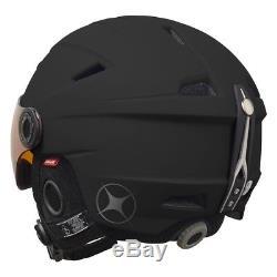 Manbi Park Visor Pro Ski Snowboard Helmet Black