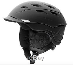 NEW 2018 Smith Variance Adult Snow Helmet Matte Black (Large 59-63 cm)