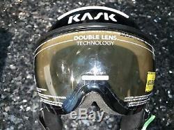 NEW KASK Class Sport Ski Helmet w Visor 50% OFF BLACK METALLIC M 58 ITALY $500