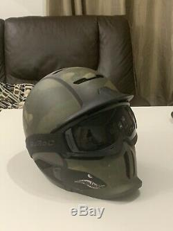 NEW Ruroc RG1-DX Asian Fit Spitfire XL/XXL Ski Bike Helmet With Crash Replacemen