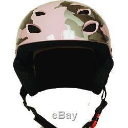 NEW Snowboard Ski Skiing Snow Helmet White Camo Kid Youth Adult XS S M L XL XXL