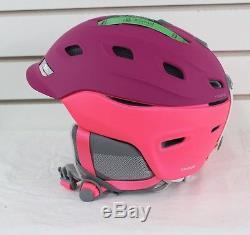 New 2017 Smith Womens Vantage Ski Snowboard Helmet Adult Small Static Fuchsia