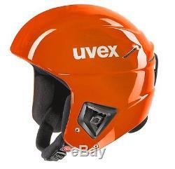 New 2017 Uvex Race + Plus Ski Snowboard Racing Helmet Orange 56-57 Fis Approved