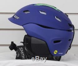 New 2018 Smith Vantage MIPS Ski Snowboard Helmet Adult Medium Matte Klein Blue