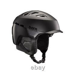 New 2019 Bern Heist Brim Unisex Adult Ski / Snowboard Helmet Small Satin Black