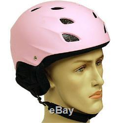 New ASTM CE Snowboard Ski Skiing Snow Helmet Blue Matte Pink Adult Size M L XL