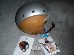 New Bogner Ski Helmet, Bamboo, Size L, Retail $1,100
