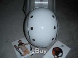 New Bogner Ski Helmet, Pure White, Size M, Retail $599