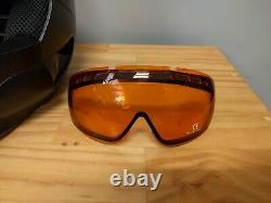 New Ruroc Black Helmet Skiing Snowboarding Size 55-57 Small