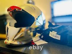New Ruroc RG1-DX Chrome Asian Fit Ski Snowboard Helmet with Goggles M/L Medium