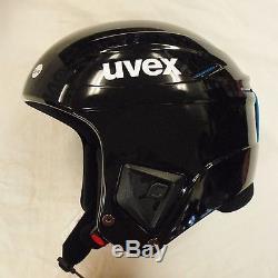 New Uvex Race + Plus Ski & Snowboard Racing Helmet Black 53-54 Fis Approved