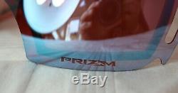OAKLEY AIRBRAKE OO 7037-40 Black Prizm Torch Irid + Prizm Sapphire Irid NEU