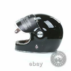 OPEN BOX BELL 7047931 Protective Motorcycle Bullitt Helmet in Gloss Black XL