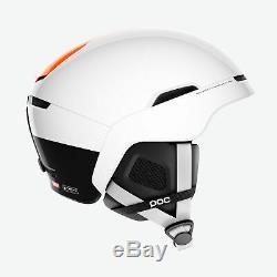 POC Obex Backcountry Spin Ski Snow Helmet Hydrogen White Fluorescent Orange