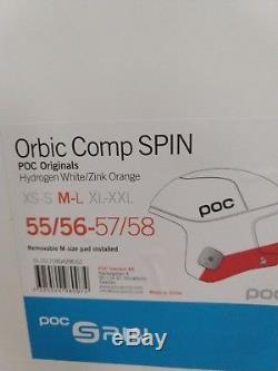 POC SKULL ORBIC COMP SPIN ORIGINALS SKI HELMET M/L 55-58 White-Zink Orange