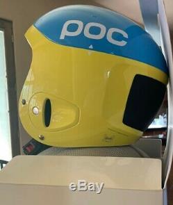 POC Skull Comp 2.0 ski helmet, new, blue/yellow, large 57-58