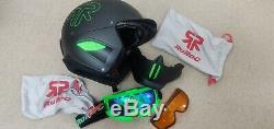 RG1-X Viper Snowboard Ski Helmet with Bluetooth speakers and Mic +Low light lens