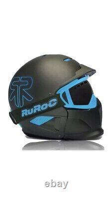 RUROC RG-1 DX HELMET. BLACK ICE/BLUE. Used. SZ S (54-57). With GoPro Mount