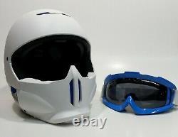 RUROC RG-1 RG1 FULL FACE SNOWBOARD SKI HELMET WHITE ICE BLUE Size Medium Large