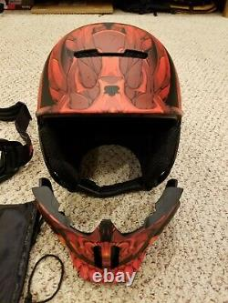 RUROC RG1-DX 20/21 El Diablo Helmet + Shockpods Audio