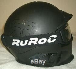 RUROC RG1-DX CORE SKI/SNOWBOARD HELMET w DAY/NIGHT LENSES SIZEM/L COLORBLACK