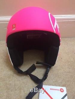 Rossignol Ski Race Helmet 55-56cm Pink/White