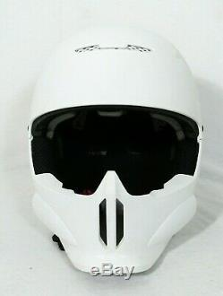 RuRoc RG1 Core mat White M/L Ski/Snowboard Helmet with face mask