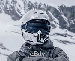RuRoc RG1-DX Chrome XL Ski/Snowboard Helmet with Weather Lens Pack/Case